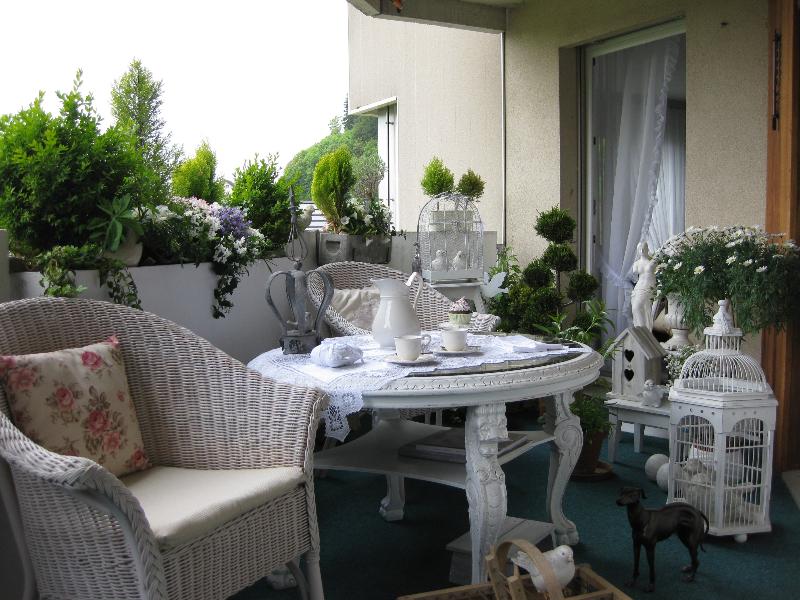 Unser Balkon im Shabby Style